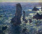 Клод Моне Пирамиды, скалы в Бель-Иль 1881г