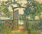 Клод Моне Садовые ворота в Ветёе 1881г